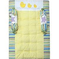 Abracadabara New Born Baby Bedding Mattress/Gadda Set with 2 Side Bolster Pillows in Soft Luxurious Cotton - 3 Pieces