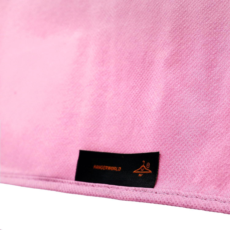 Hangerworld Funda para Vestido de Novia 183cm Negro Transpirable para Vestidos Largos