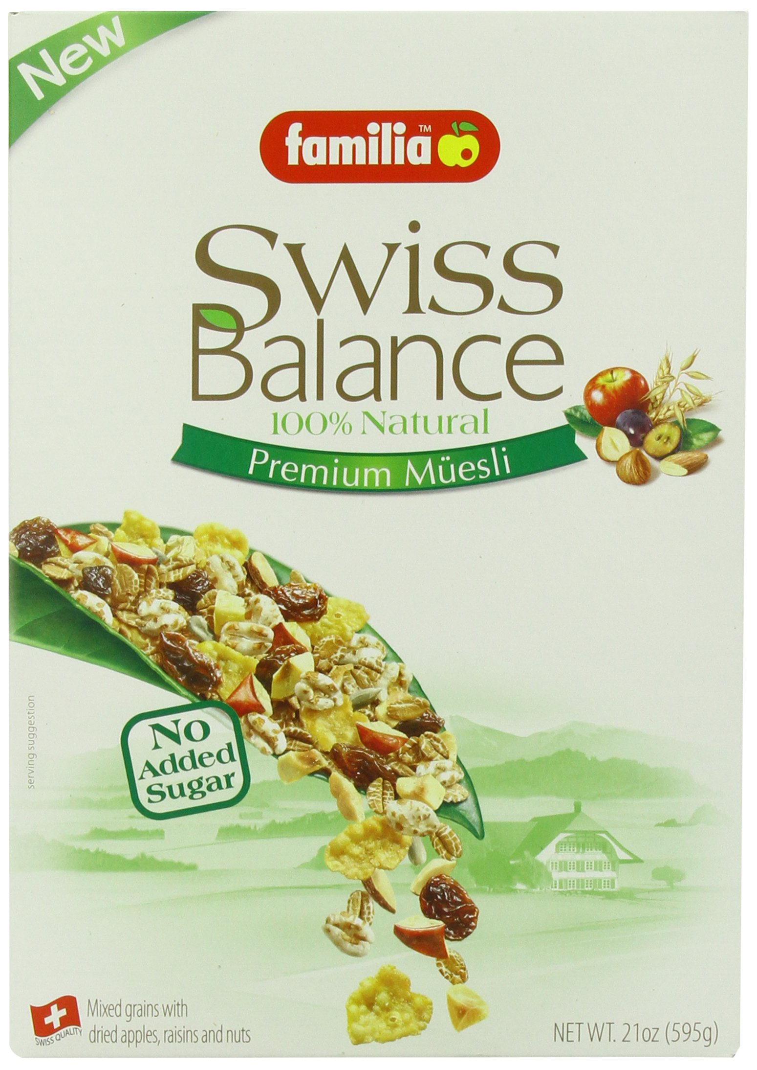 Familia Swiss Balance Muesli Cereal, No Added Sugar, 21-Ounce Box (Pack of 6)