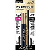 L'Oreal Paris Voluminous Original Volume Building Mascara and Infallible Eyeliner, Builds eye lashes up to 5X natural…