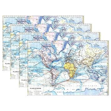 Naanle Education Educational Sets De Table Aquarelle Carte Du Monde