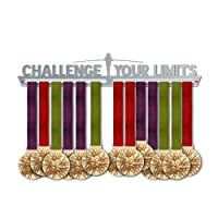 Challenge Your Limits Medal Hanger Display   Motivational Medal Holders   Stainless Steel Medal Display   by VictoryHangers - The Best Gift For Champions !