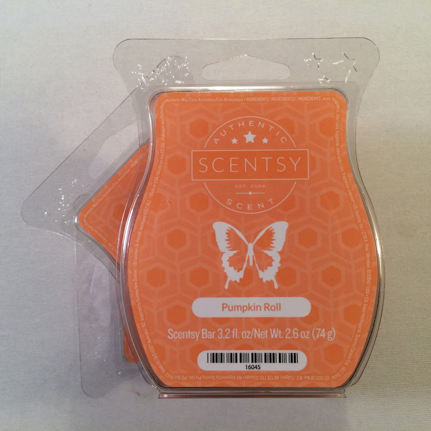 Scentsy, Pumpkin Roll, Wickless Candle Tart Warmer Wax 3.2 Oz Bar, 3-pack (3)