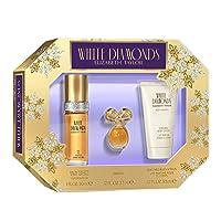 Elizabeth Taylor Elizabeth Taylor White Diamonds Women's Fragrance 3 Piece Gift Set, 1.0 Fl. Oz. Eau De Toilette, 3 Count