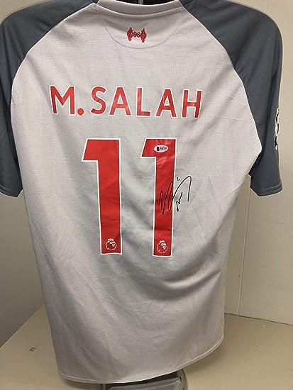 huge selection of eb07c c72c0 Mohamed Salah Signed Liverpool F.c. Jersey Bas Beckett 4 ...