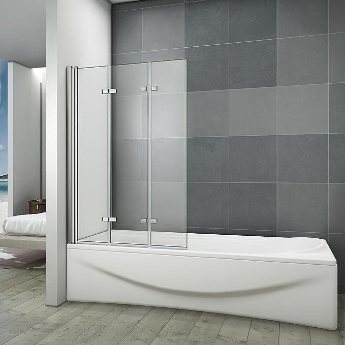 Mampara de baño 130 x 140 cm cristal antical mampara de ducha 3 ...