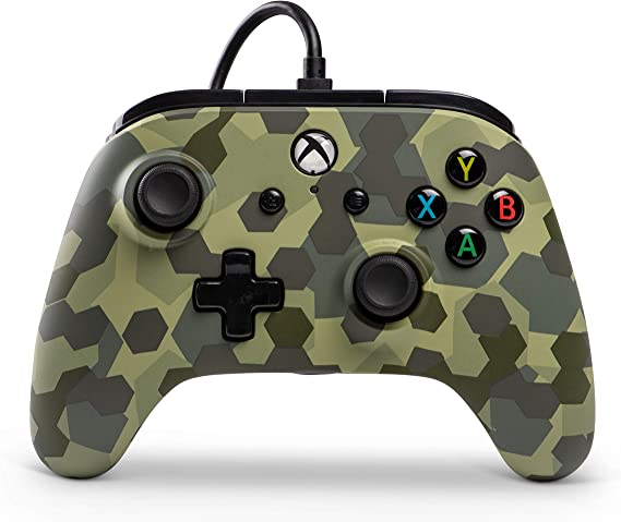 PowerA - Mando Con Cable, Salida De Audio Y Botones Programables Jungle Camo Para Xbox One Y PC (Xbox One): Amazon.es: Videojuegos