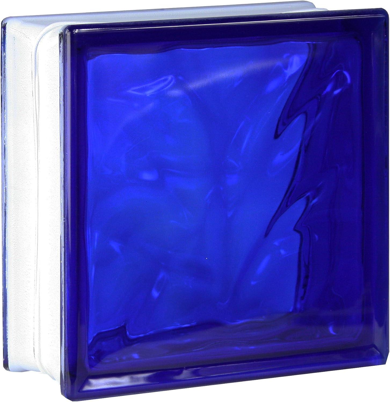 5 piezas FUCHS bloques de vidrio nube azul 19x19x8 cm: Amazon.es ...
