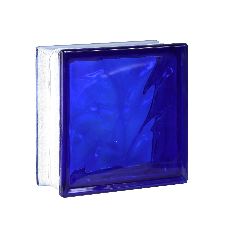 5 St/ück FUCHS Glassteine Wolke Azur 19x19x8 cm
