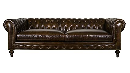Gentil COCOCO Chesterfield Leather Sofa (Chocolate)