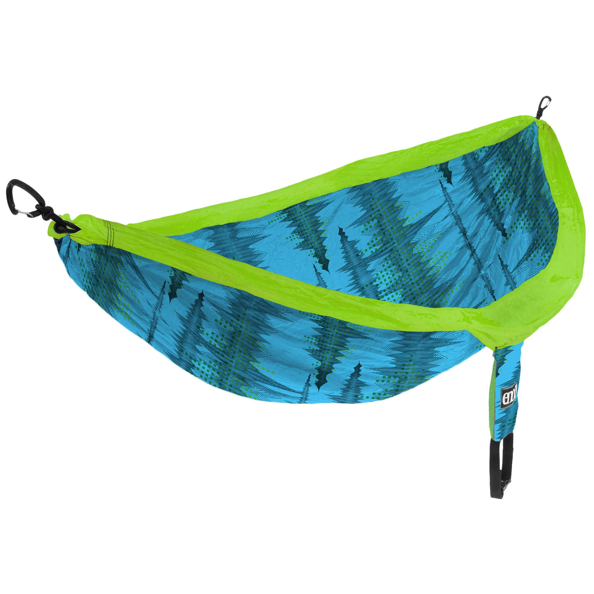 ENO - Eagles Nest Outfitters DoubleNest Print Portable Hammock for Two, Soundwave/Aqua