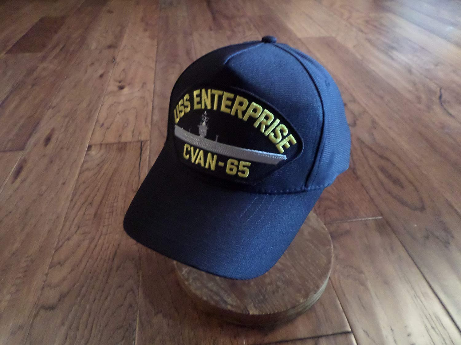 9a27038b339 Amazon.com  EAGLE CREST USS Enterprise CVAN-65 Navy Ship Hat U.S Military  Official Ball Cap U.S.A Made  Clothing
