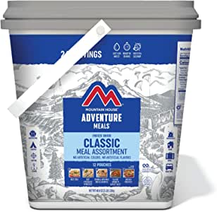 Mountain House Classic Bucket | Freeze Dried Backpacking & Camping Food | 24 Servings (0081635A)