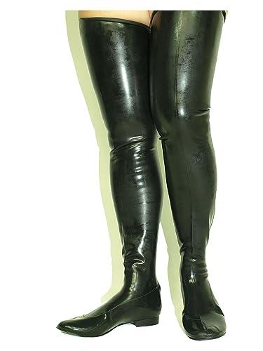 Latex Stiefel Gummi Rubber Flach Bolingier Poland Size 38 48