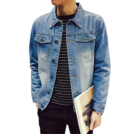 Batsomer Solid Casual Slim Mens Denim Jacket Plus Size S-4Xl 5XL Bomber Jacket Men Cowboy Mens Jean Jacket Chaqueta Hombre at Amazon Mens Clothing store: