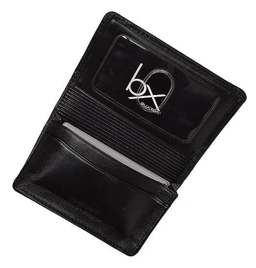 Amazon Buxton Unisex Leather Business Card Holder Organizer