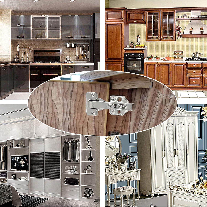 KAILEE 4Pcs Cupboard Door Hinges 90 Degree Kitchen Cabinet Hinges Soft Close Kitchen Cabinet Folding Door Hinge with Screws for Inset Cupboard Wardrobe Combination Angle Doors Furniture