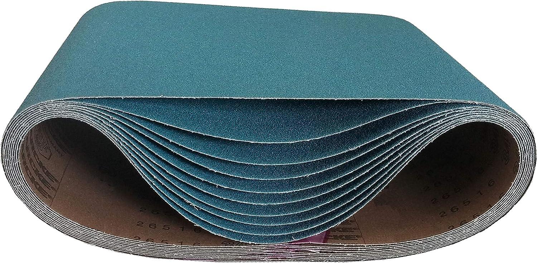 """10\"""" X 29-1/2\"""" Floor Sanding Belts Zirconia Cloth Belts (5 Pack, 24 Grit)"""