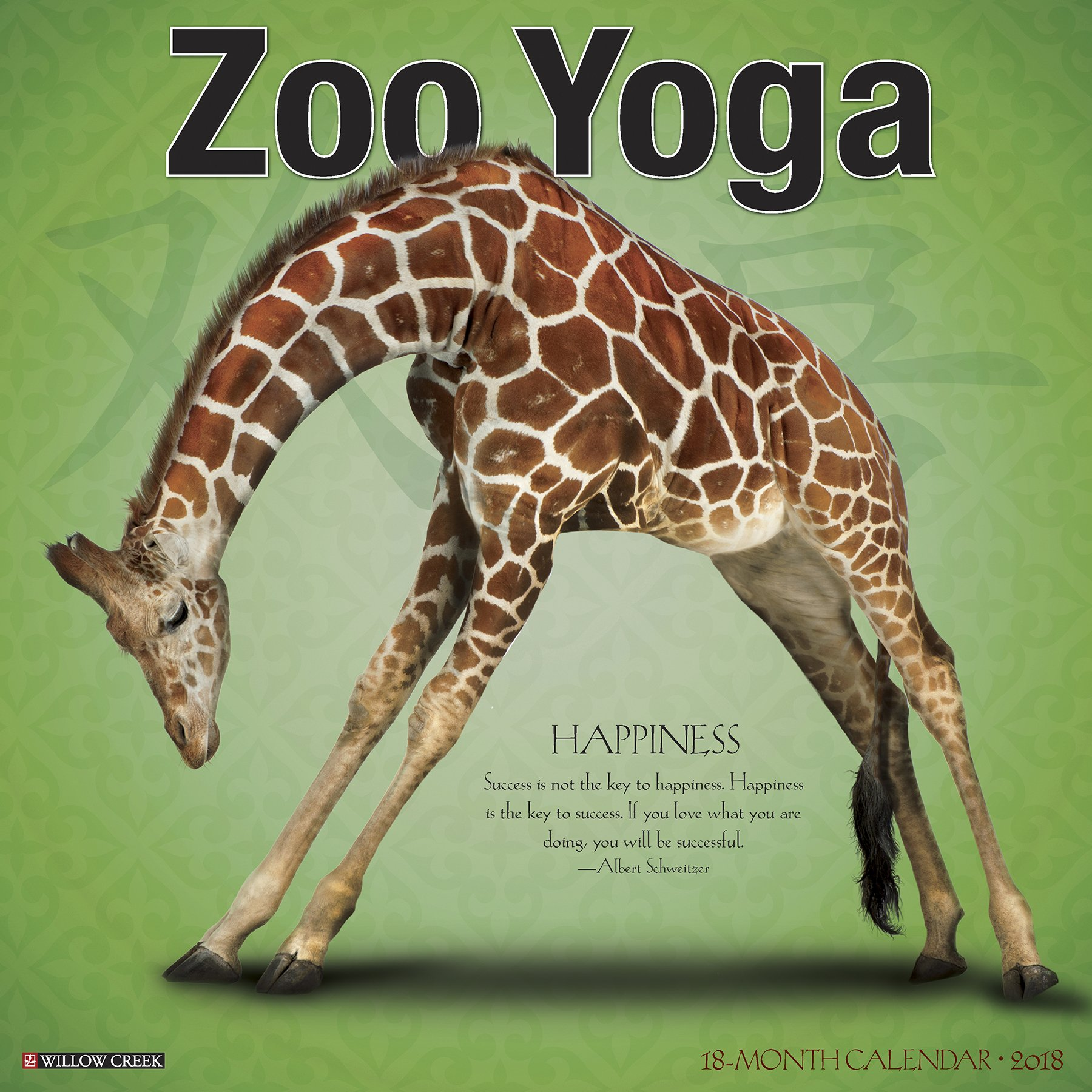 Zoo Yoga 2018 Calendar: Amazon.es: Willow Creek Press ...