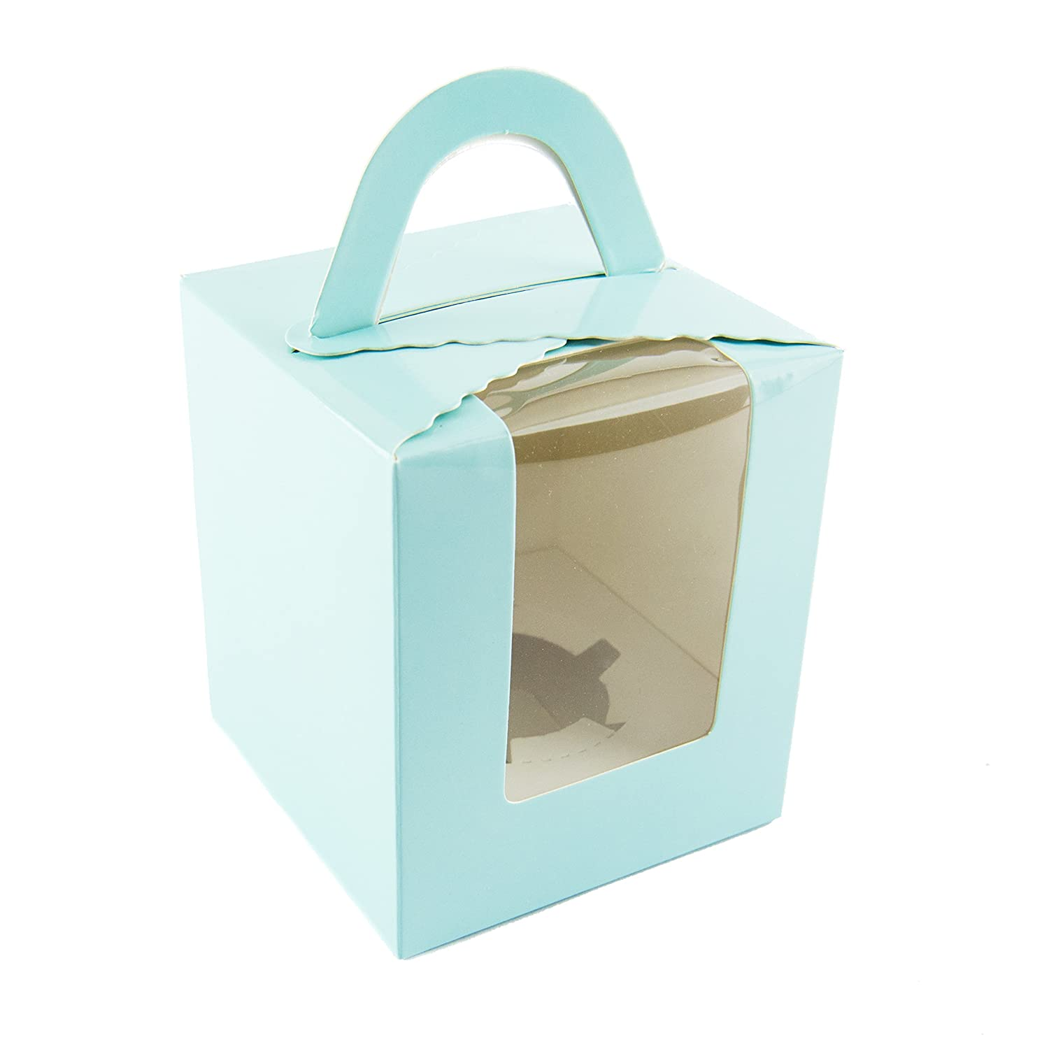 10 x Single Cupcake Boxes in Blue Ibex Retail