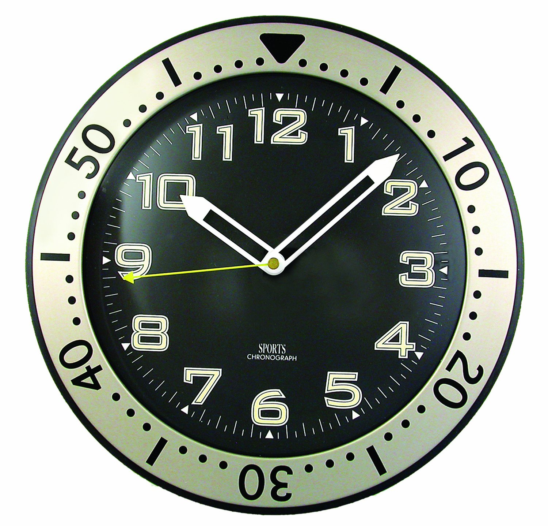 Timekeeper 515BB 12-Inch Round Glow-In-the-Dark Wall Clock
