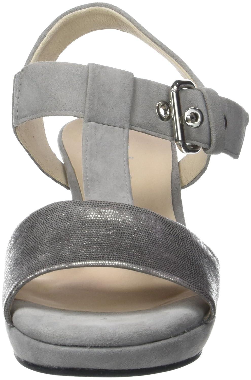 Gabor Grau Damen Comfort Fashion RiemchenSandale, Grau Gabor (Grau/Grau) 6157cb