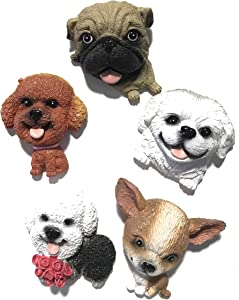 Cute Dog Magnets For Fridge for Kids and Dog Lovers - Strong Animal Toy Magnets For Locker and Kitchen - White Board and Refrigerator Dog Butt Magnets (Potat Collection 1)