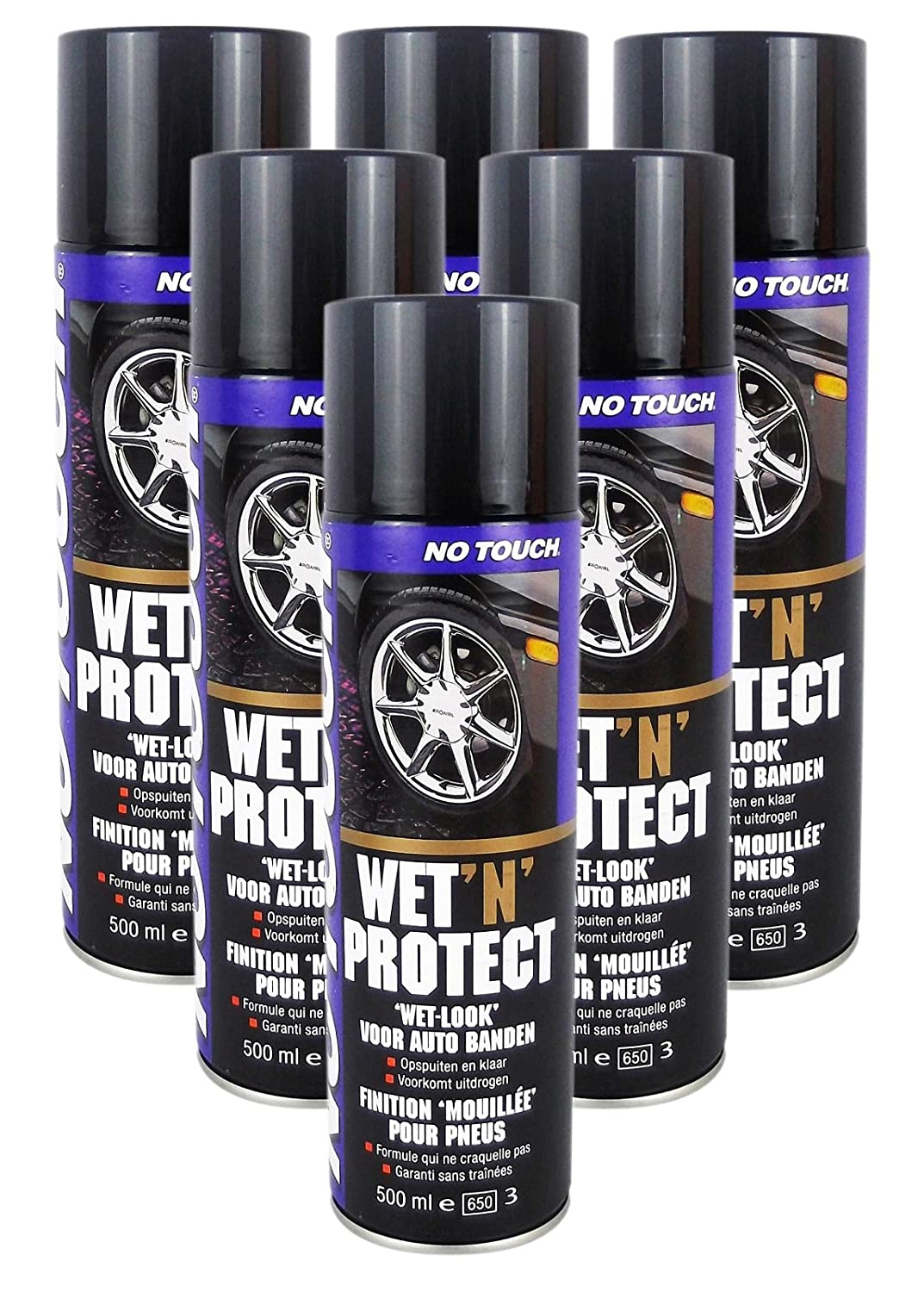 6 Stü ck No Touch Wet`n Protect 500 ML Reifenglanz No Name