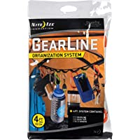 Nite Ize GLN4-M1-R8 Gear Line 4-Feet S-Biner Double-Gated Carabiner Clips
