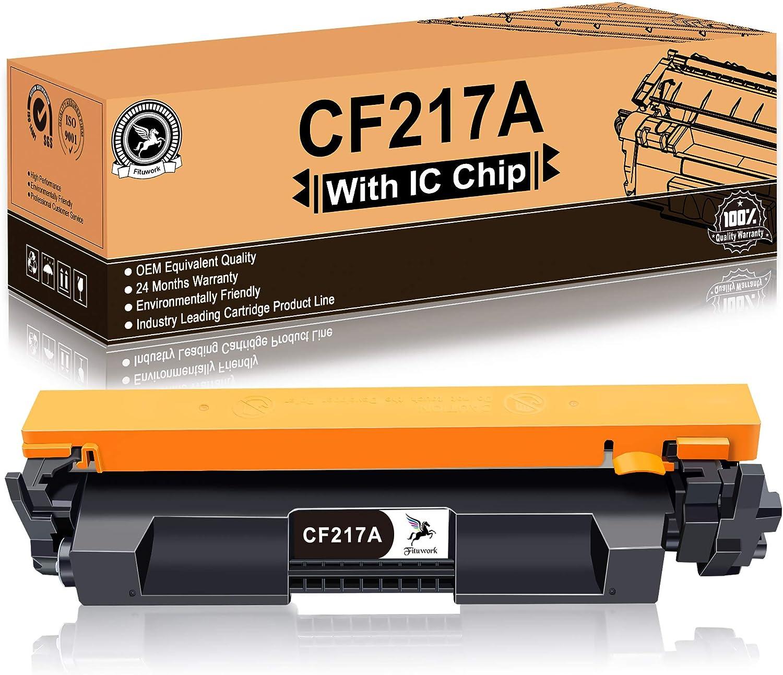 FITU WORK 1x 17A CF217A (con Chip) Cartucho De Tóner Negro ...