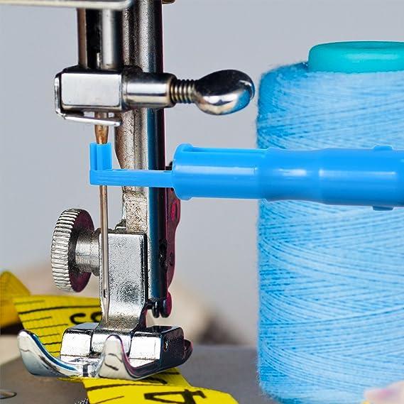 3 Piezas Insertor de Aguja de Costura Herramienta de Enhebrar Aguja para Máquina de Coser: Amazon.es: Hogar