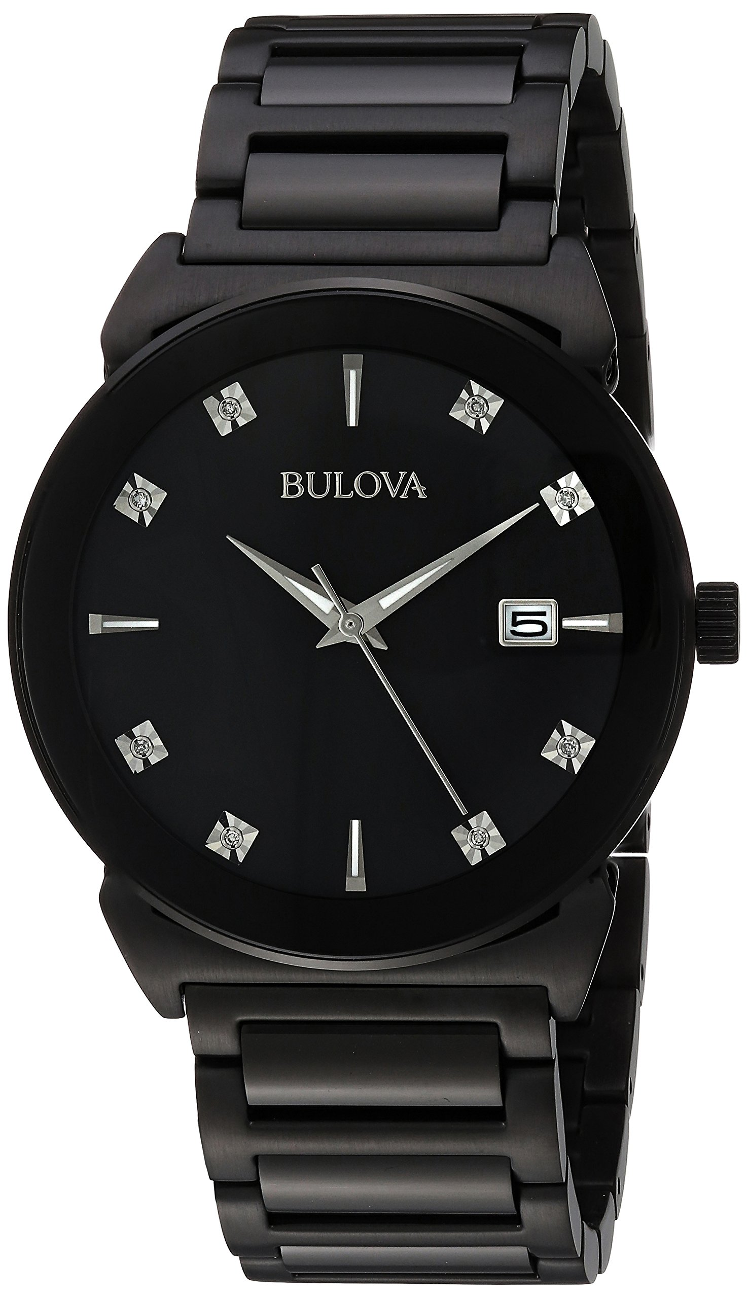 Bulova Men's 98D121 Analog Display Japanese Quartz Black Watch