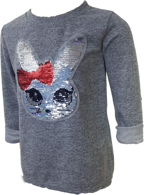 Einkaufszauber Kinder Pullover Zauberkaninchen Hellgrau