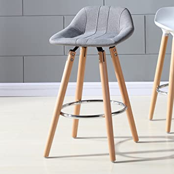Super Yopih Camaro 26 Inch Counter Stool Grey Color Set Of 2 Gmtry Best Dining Table And Chair Ideas Images Gmtryco
