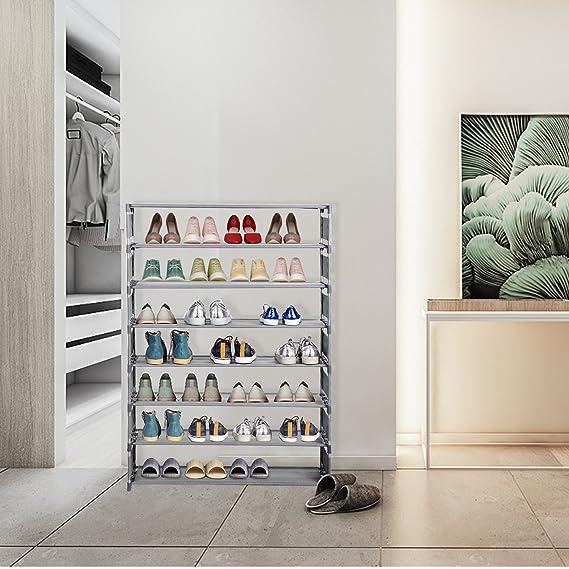 8 Ebenen Schuhregal freistehend Schuhklappen Schuh-Organizer für 12 Paar NEU