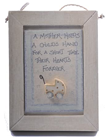 East Of India Mother Plaque New Mum Or Baby Shower Gift Amazon Co