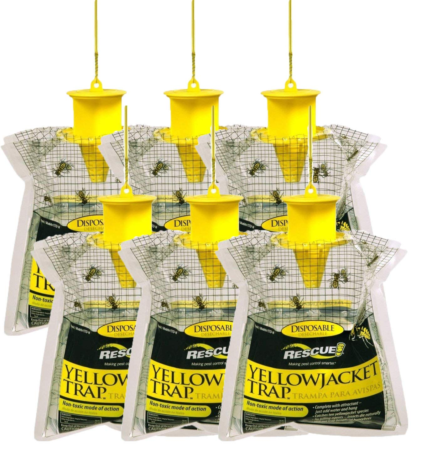 Sterling Rescue Yellowjacket , Meat Bees And Ground Hornets Control Trap (6 Pack)