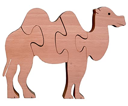 The Kiddy Depot – Wooden Interlocking Puzzle Natural Camel