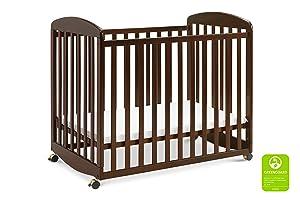 Davinci Alpha Mini Rocking Crib in Espresso | Removable Wheels | Greenguard Gold Certified