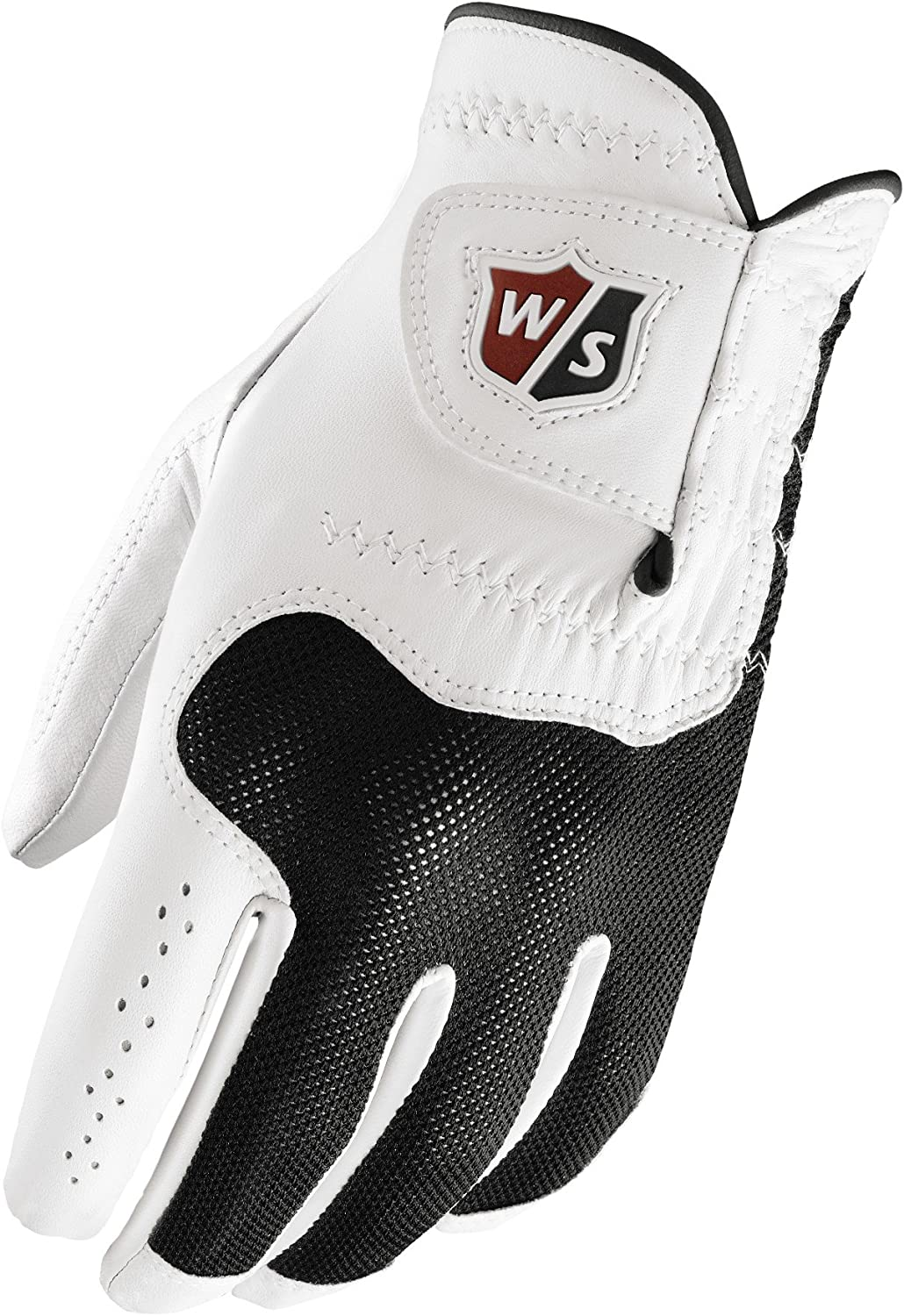 Wilson Sporting Goods Staff Conform Golf Glove, White, Large, Right Hand