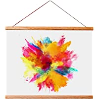 """Landmass 11"""" Wide Magnetic Poster Hanger Frame - 11x14 11x17 11x22 - Wood Frame for Posters, Prints, Photos, Pictures, Maps, Scrolls, and Artwork - Wall Hanging Wooden Frame"""
