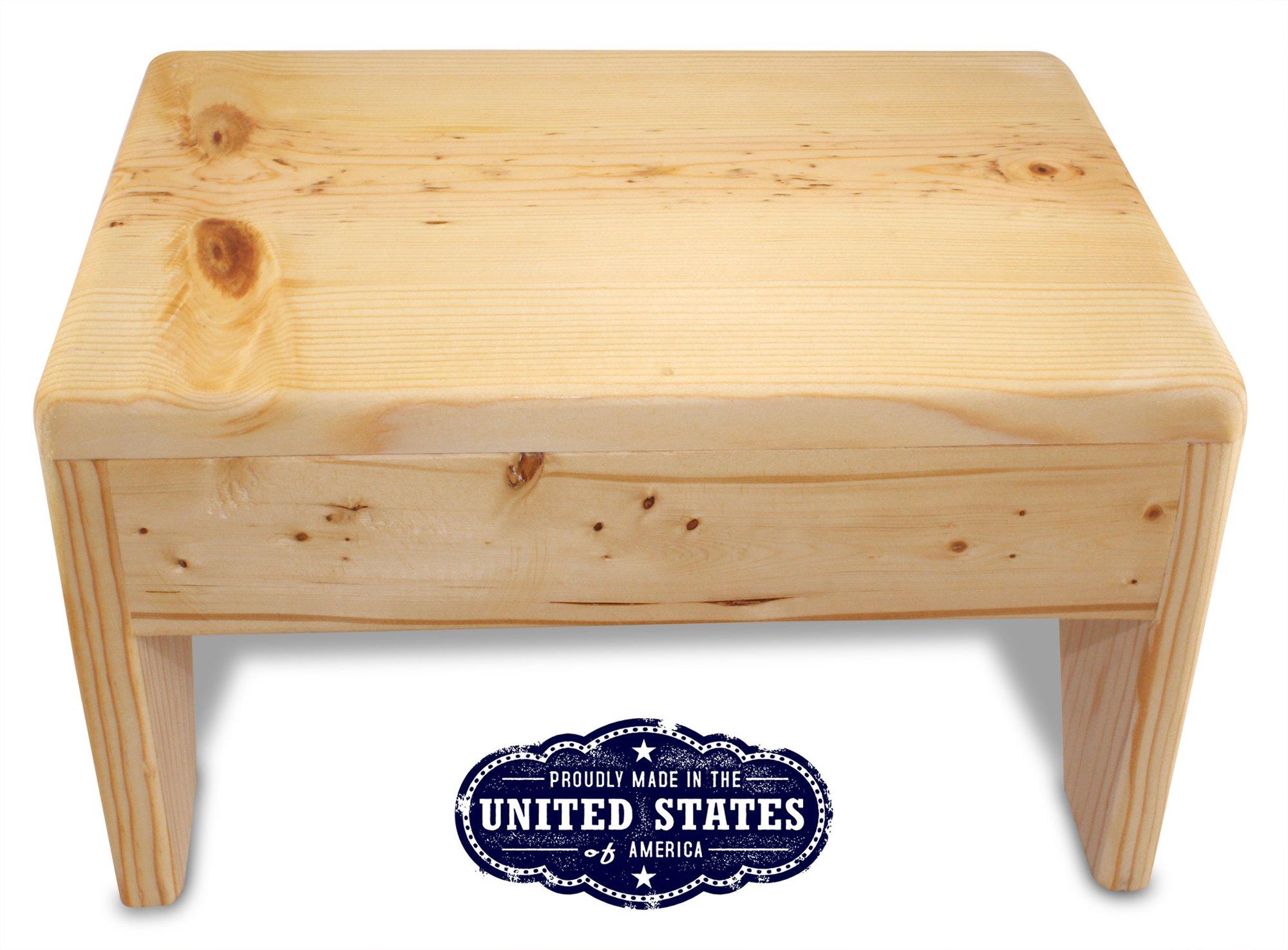 cutestepstools 8 Inch Solid Wood Step Stool by www.cutstepstools.com (Image #1)