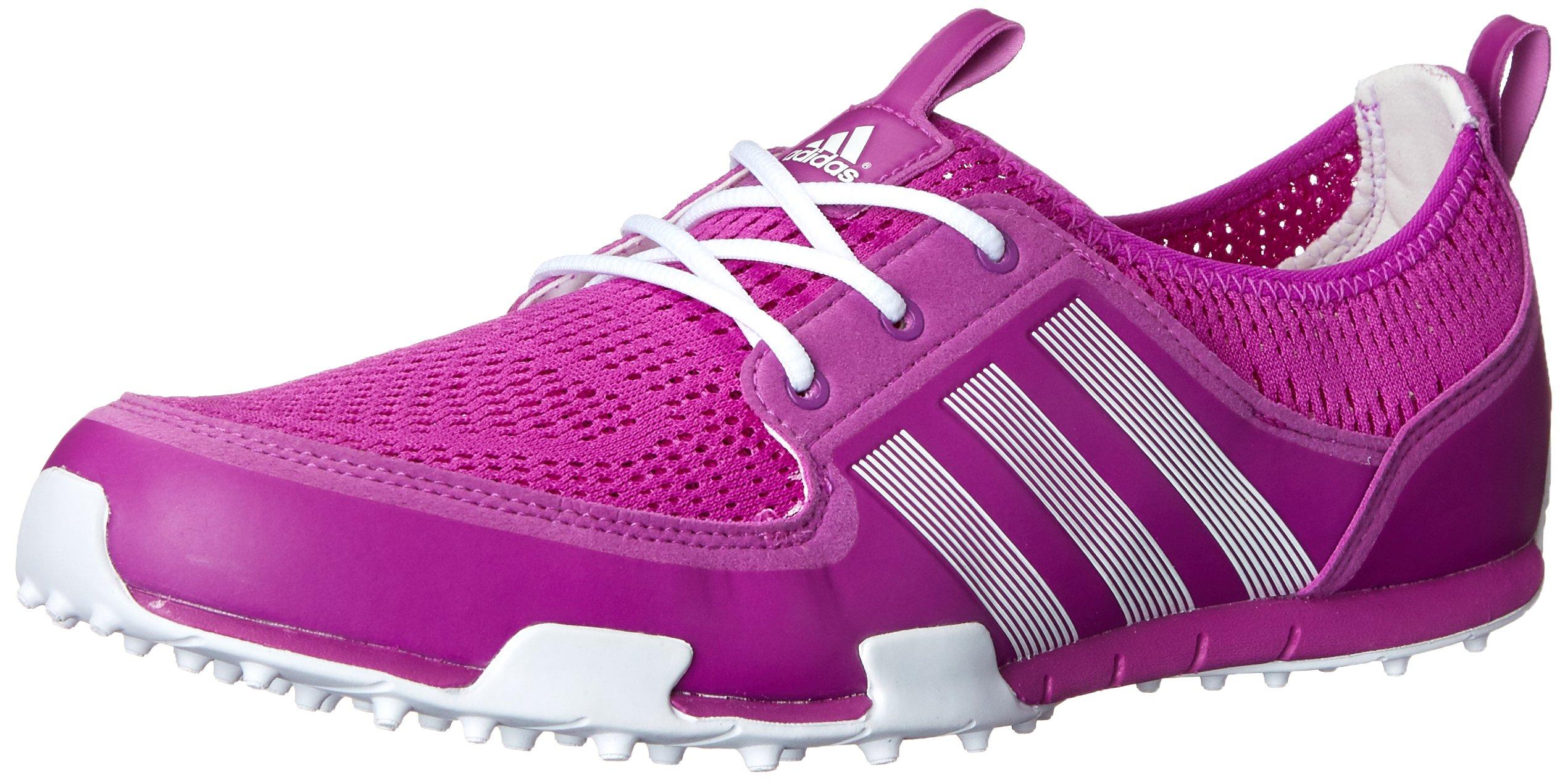 adidas Women's W CC Ballerina II Golf Shoe, Flash Pink/Running White/Running White, 8 M US