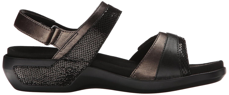 Aravon Women's Katherine-AR Flat Sandal B014R31KDG 5 2A US|Black/Multi