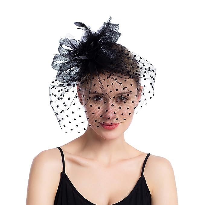 2979eef1c40 Seven Flowers Fascinators Pillbox Tea Hat for Women Tea Party Kentucky  Derby Headband