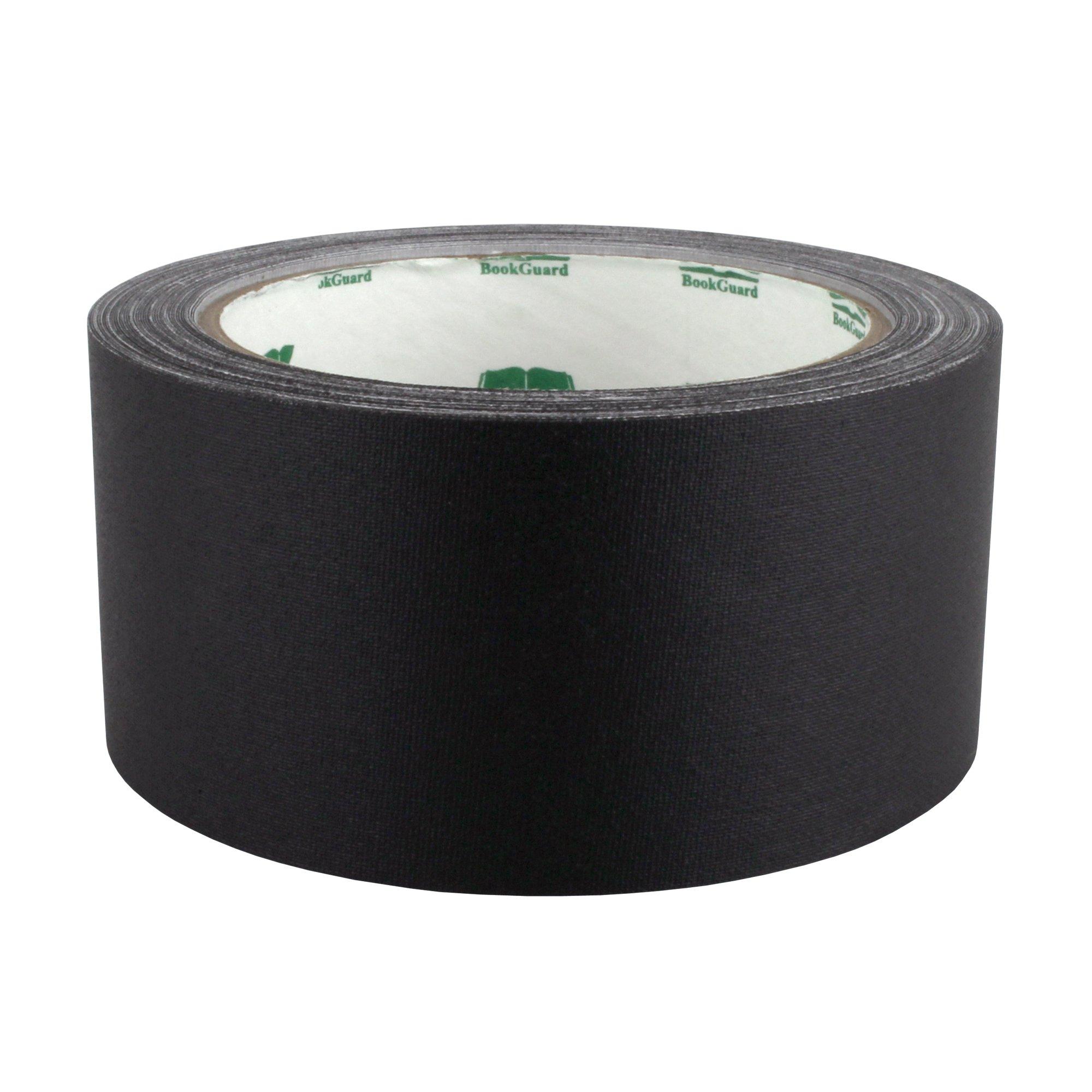 2'' Black Colored Premium-Cloth Book Binding Repair Tape | 15 Yard Roll (BookGuard Brand)