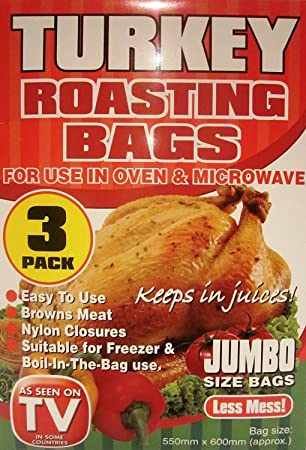 Amazon.com: 3 Pack de bolsas para asar pavos (Tamaño Jumbo ...
