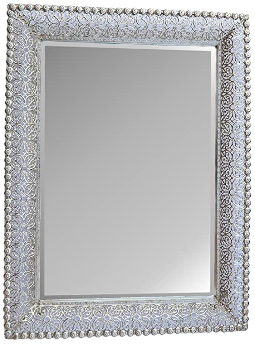 mirror frame. Simple Mirror LuLu Decor Lacy Silver Metal Beveled Wall Mirror Frame Size 30u0026quot X  22u0026quot Throughout