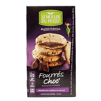 Le Moulin Du Pivert Cookies Rellenas de Chocolate - Paquete de 12 x 175 gr -