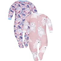 Sibinulo Niño Niña Pijama Bebé Pelele de ABS -Tamaños 80-92 - Pack de 2